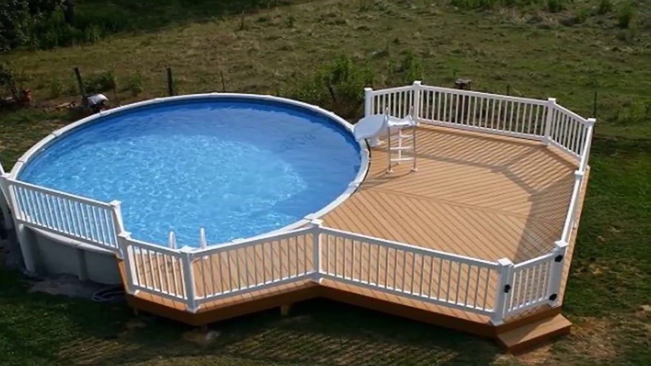 Modern Backyard Best Backyard Ideas With Above Ground ...