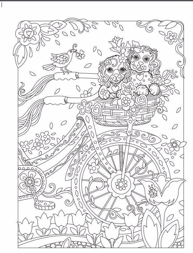 Memorable Charms Square Shape Dog Coloring Book Coloring Pages Coloring Books
