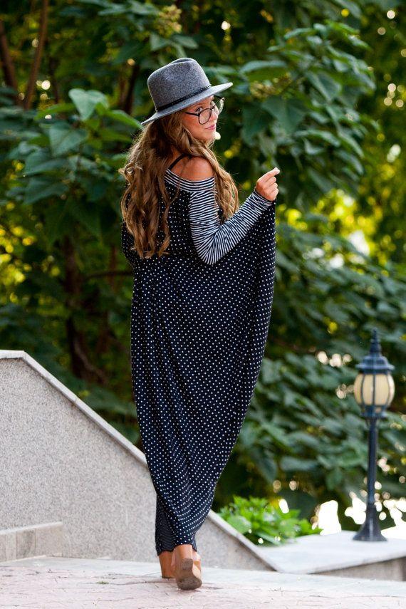 Extravagant Dress/ Loose Long Dress/ Oversize by MICHAELNIKfashion
