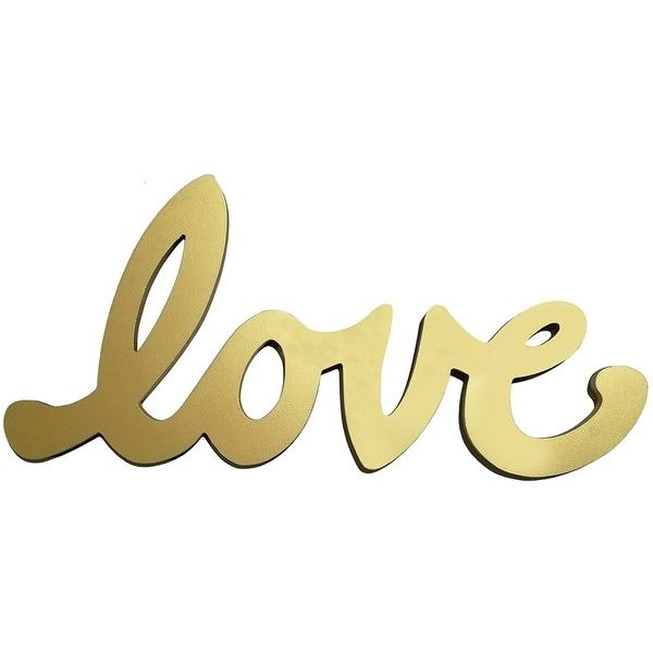 Love Script Word Art Plaque ($30) ❤ liked on Polyvore featuring ...