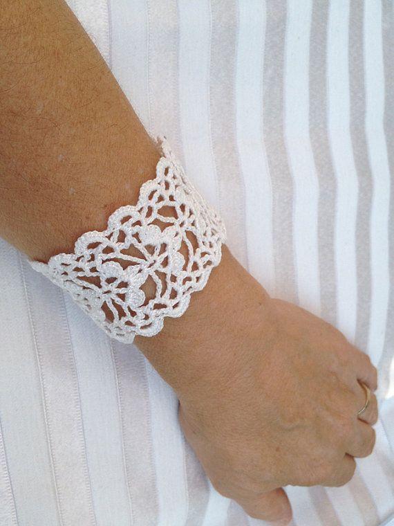 PDF Tutorial Crochet Pattern, Lace Cuff Bracelet, Wedding Accessory ...