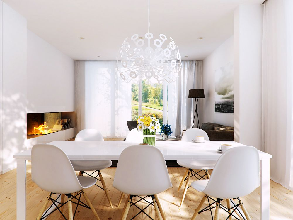 Comedores De Estilo Nórdico  Dining Area Interior Design Gallery Awesome Dining Room White Inspiration