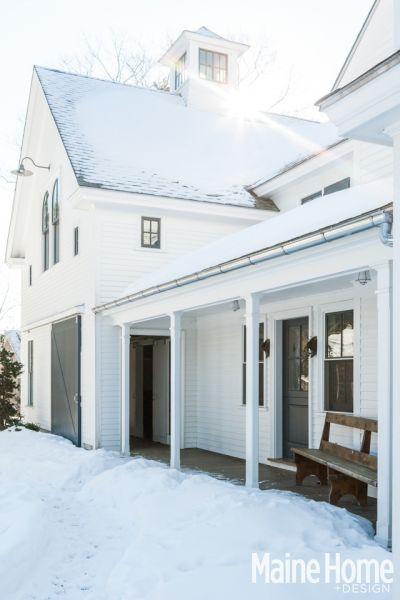 a classic white new england farmhouse in maine - Maine Home Design