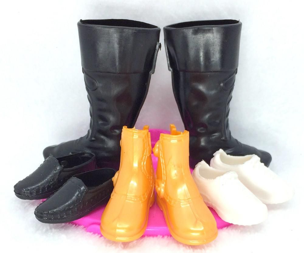 NK 4 Pairs Fashion Boots Doll Shoes Heels Sandals For Ken Dolls Accessories High Quality Baby Toy