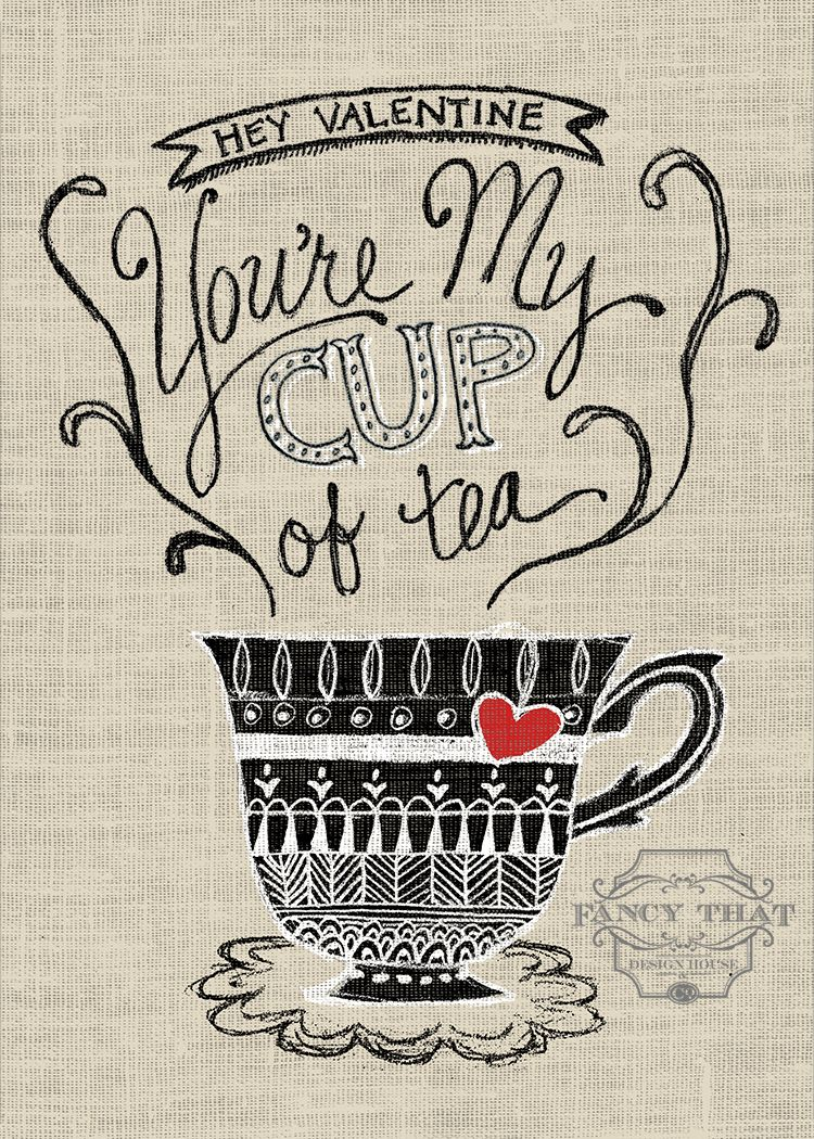 Source:fancythatdesignhouse.com 9. My Cup Of Tea Can we just talk about how adorable this print is? The whole concept is incredibly cute from the writing, to the cup of tea, to the burlap background. It's perfect for any person or family that loves drinking tea. (Fancy That Design House & Co. is full of greatContinue Reading...