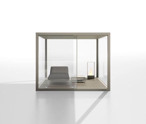 Gandia Blasco's fresh designs, check out their new outdoor room called the Cristal box