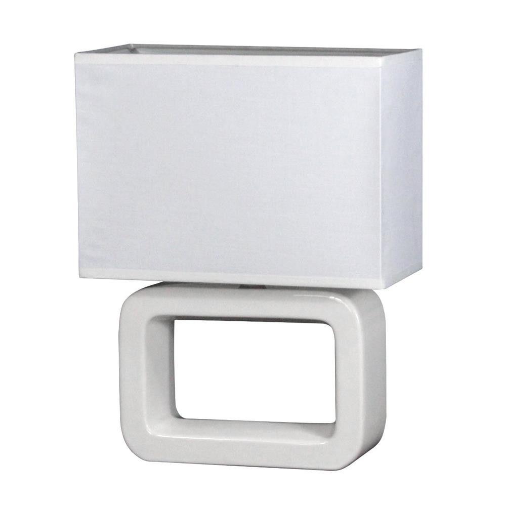 Die Elegante Farbe Taupe: Tischleuchte Nea Stoff Weiss Keramik Tischlampe