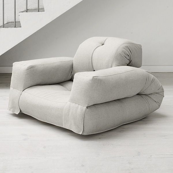 HIPPO, An Armchair Or A Sofa, That Turns Into A Comfortable Extra Futon Bed