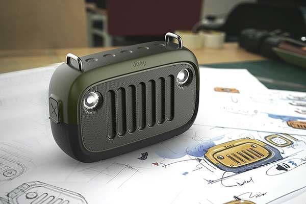 The Jeep Inspired Outdoor Waterproof Bluetooth Speaker   Waterproof