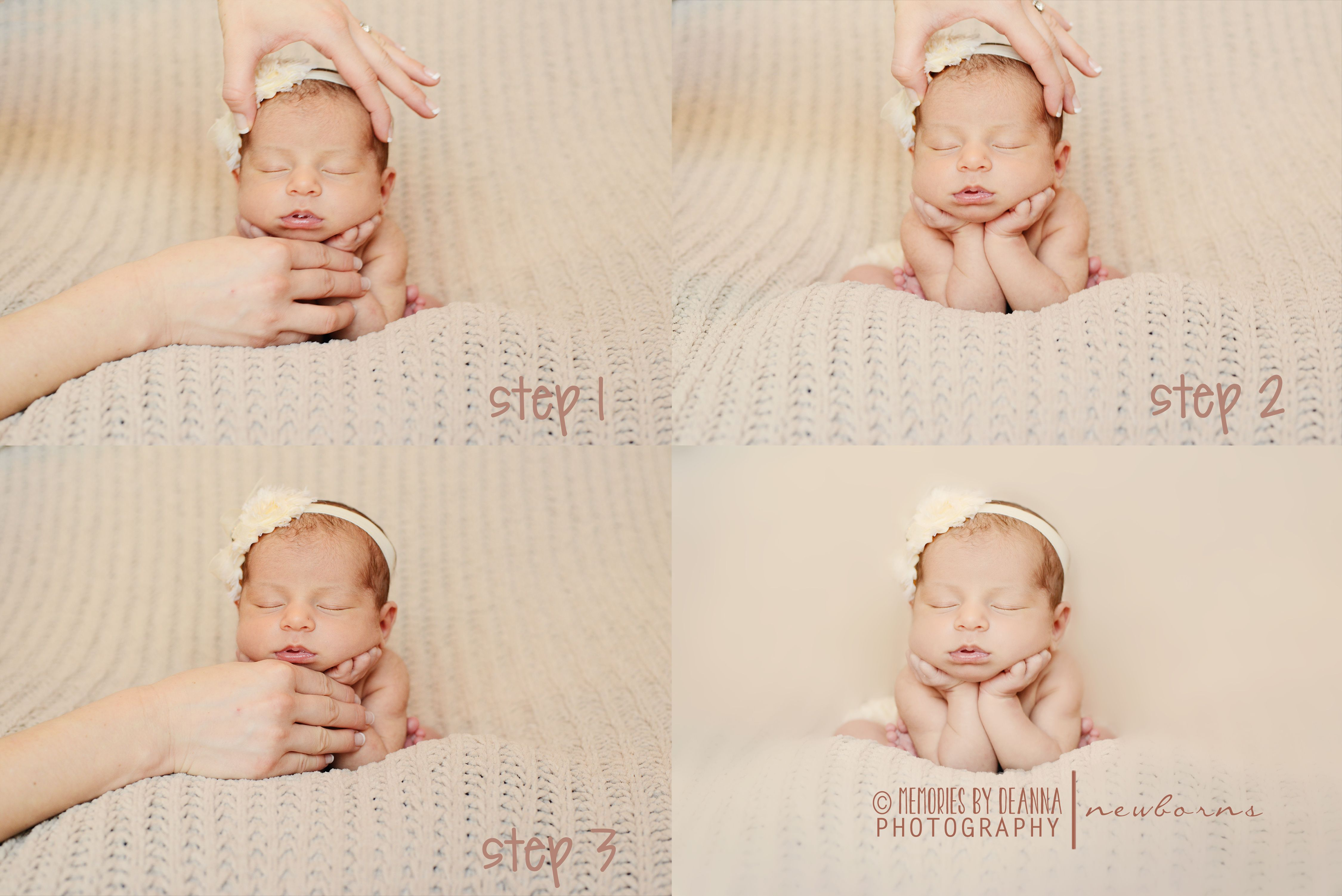 Froggy pose step by step images newborn posing newborn baby photography newborn photo props