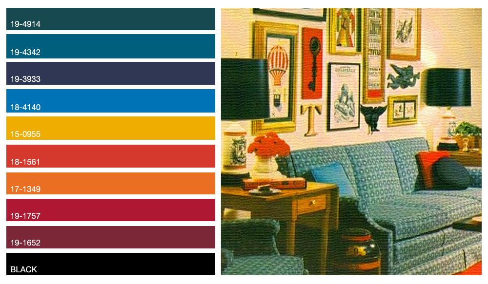 60 S Dark Jewel Tone Color Palette