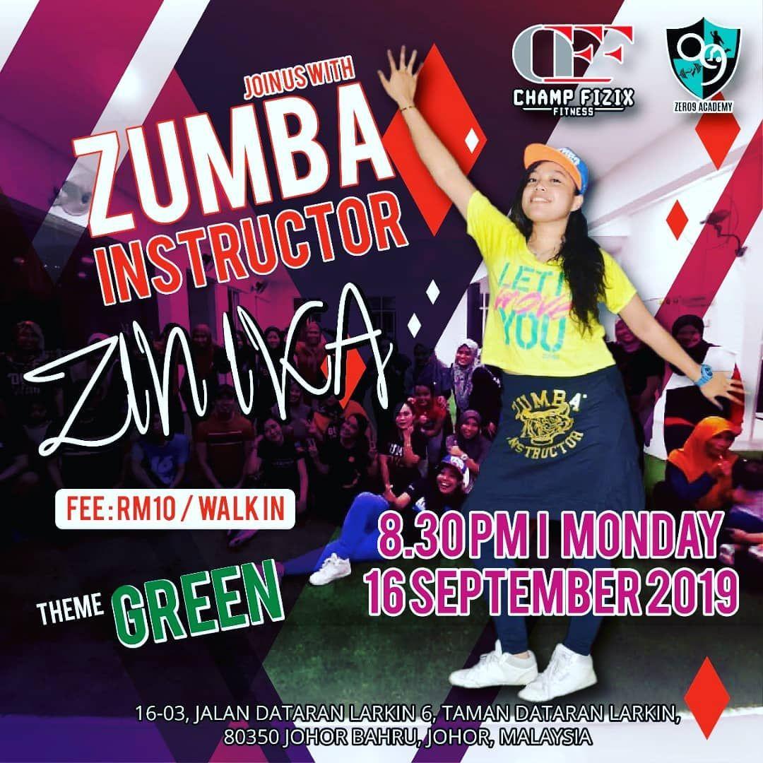 ZUMBA Setiap hari isnin 8.30 malam Jom sertai  Bukan biasa-biasa #zumbafitness  #zinika  #fitness  #...
