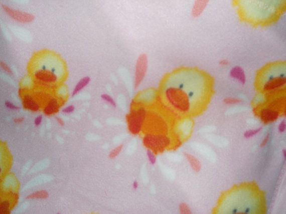 Happy Splashing Little Duck in yellow on pink by Jusadreamin, $14.00