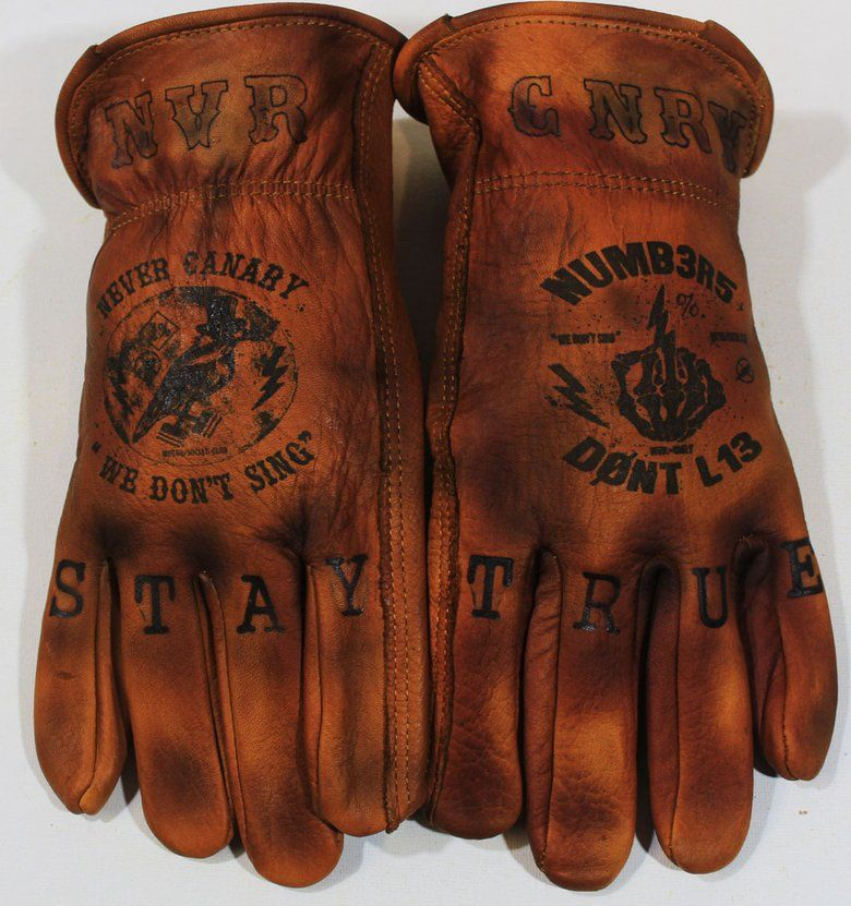 Tattooed And Branded Gloves Greezmunky Kustoms Motorcycle Gloves Leather Gloves Leather Work Gloves