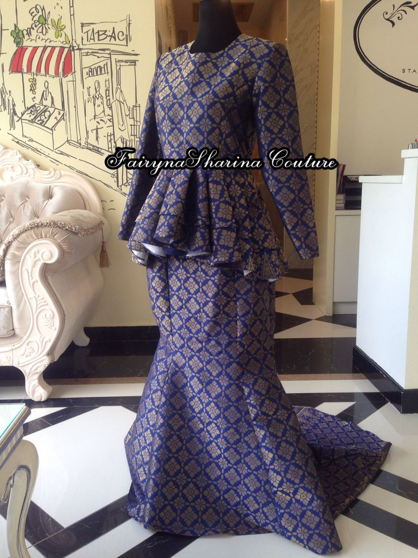 Songket peplum Tailoring by @fairynasharinacouture Contact us for