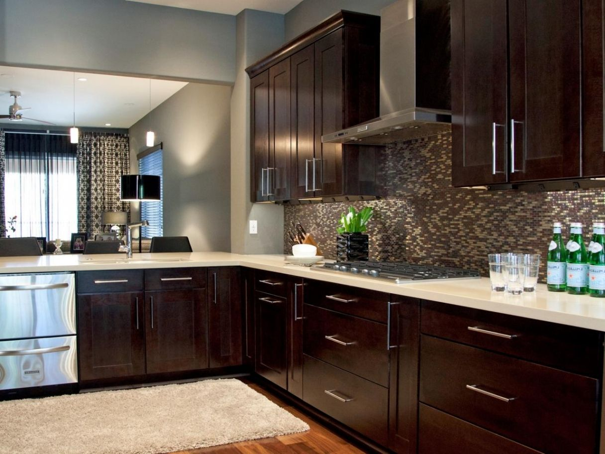 Espresso kitchen cabinets pictures ideas tips from hgtv hgtv for fresh kitchens