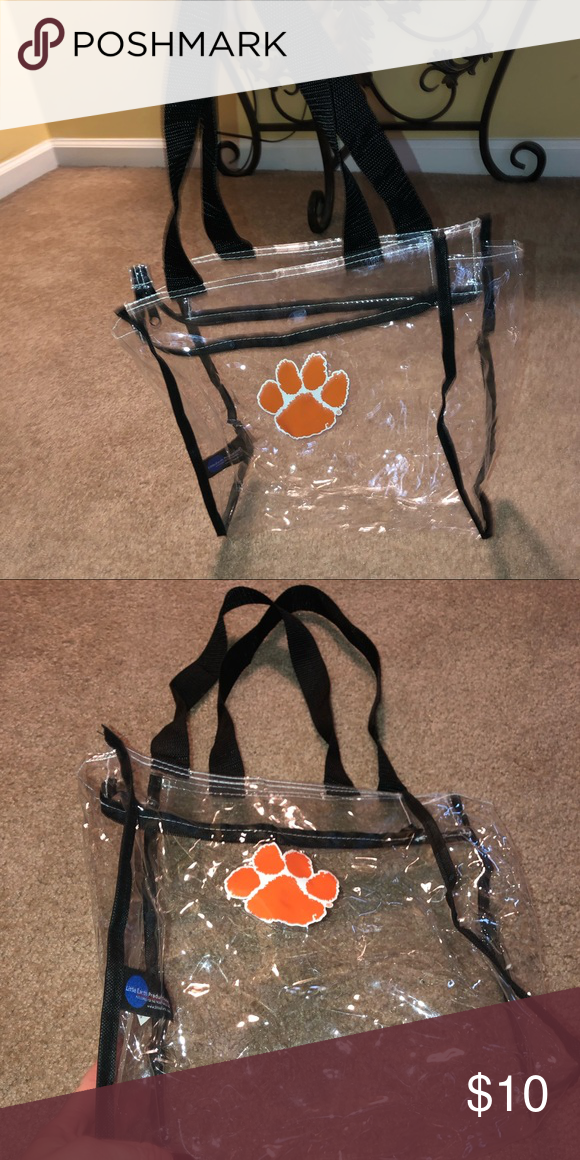 75c515c880e Clemson Clear Game Day Bag Used once Excellent condition Bags Shoulder Bags