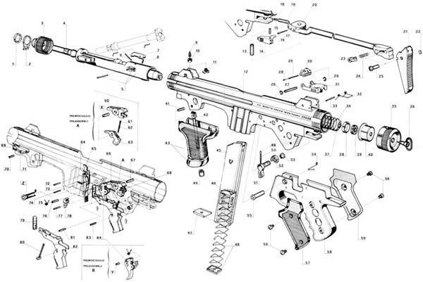 pin on weapons uzi gun parts uzi schematic #11