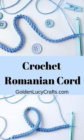 Romanian cord, crochet romanian cord, how to crochet romanian cord
