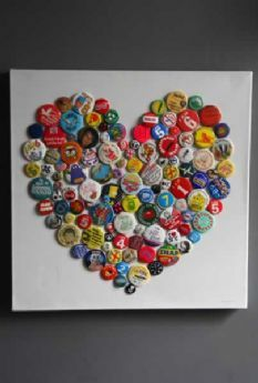 Brigitte Herrod Vintage Button Badge Heart Canvas - Exclusive to RSG - do this in another shape with Sophie's old badges
