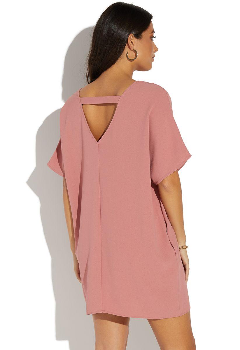 Short Sleeve Side Pocket Shift Dress Shoedazzle A Short Sleeve Shift Dress With A V Back Detail And Two Si Short Sleeve Shift Dress Clothes Clothes For Women [ 1200 x 823 Pixel ]