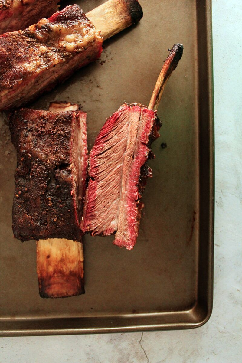 You Have To Try This Smoked Beef Ribs Recipe Slow Cooked On The Traeger Or Other Electric Smoker With A Fresh Homemade Beef Ribs Smoked Beef Ribs Smoked Beef