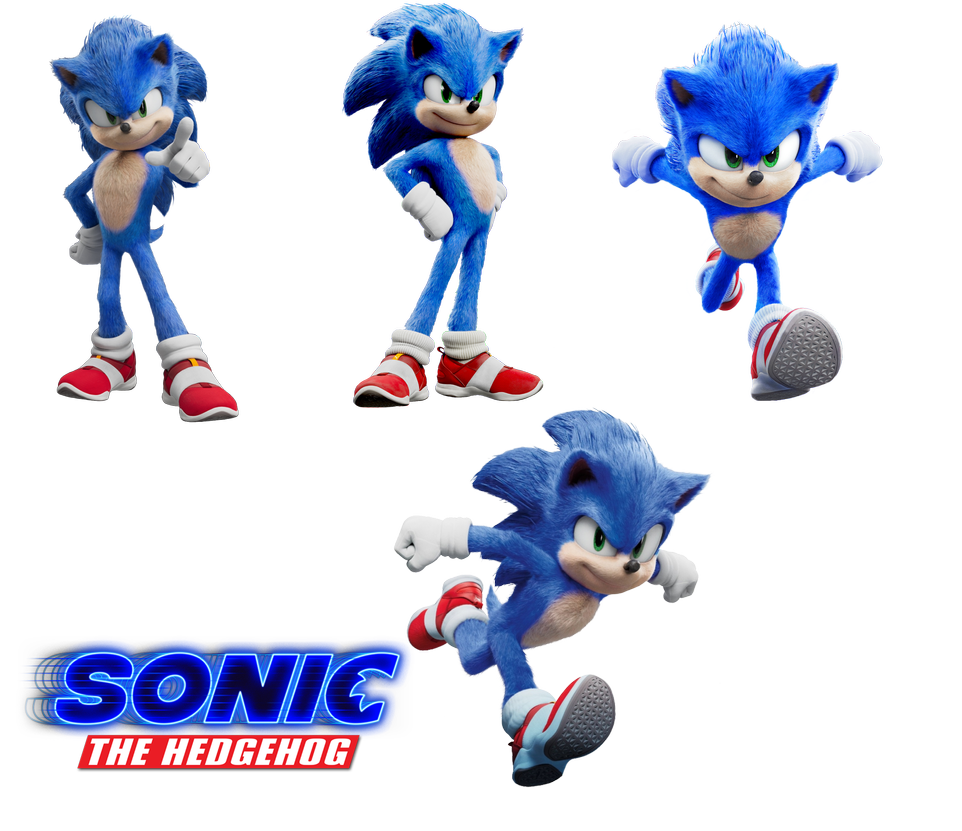 Sonic Movie Artwork Renders Pack By Theroyaldoodlebob On