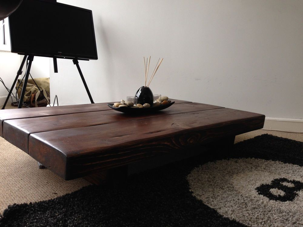 Chunky coffee table rusticsleeper coffee table round