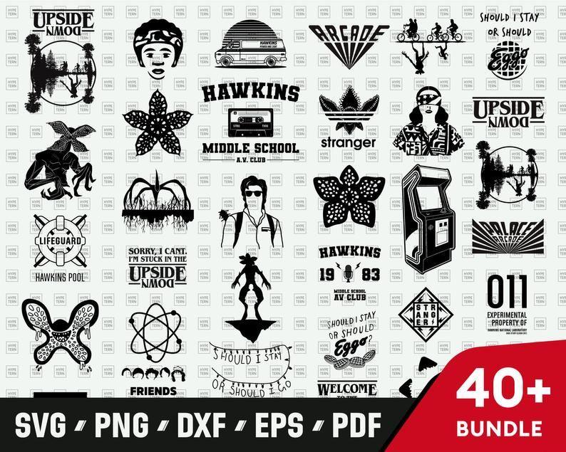 Stranger Things SVG Bundle mega pack, Upside down