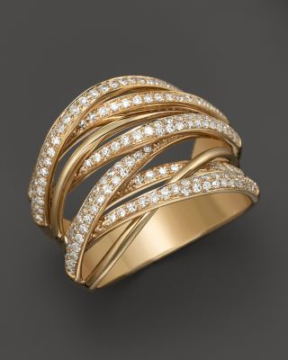 83d34f1f9 Marco Bicego 18K Yellow Gold Goa Seven Row Ring with Diamonds    Bloomingdales's