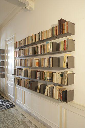 Contemporary Metal Wall Shelf Noa By Carme Pinos Santa Cole Mobili Boiserie Libreria