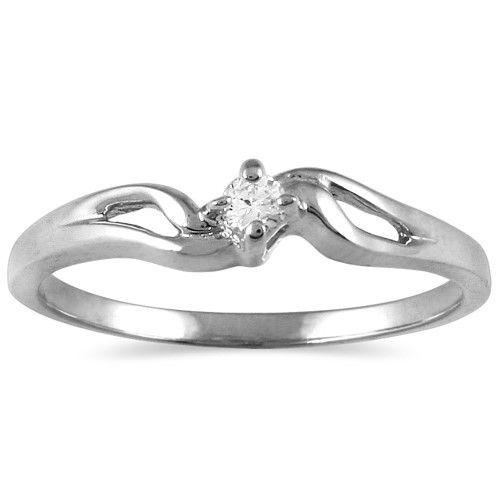 05 Carat Diamond Promise Ring In 10k White Gold Women S Size 5 Black Gold Jewelry Men Earrings Diamond Promise Rings