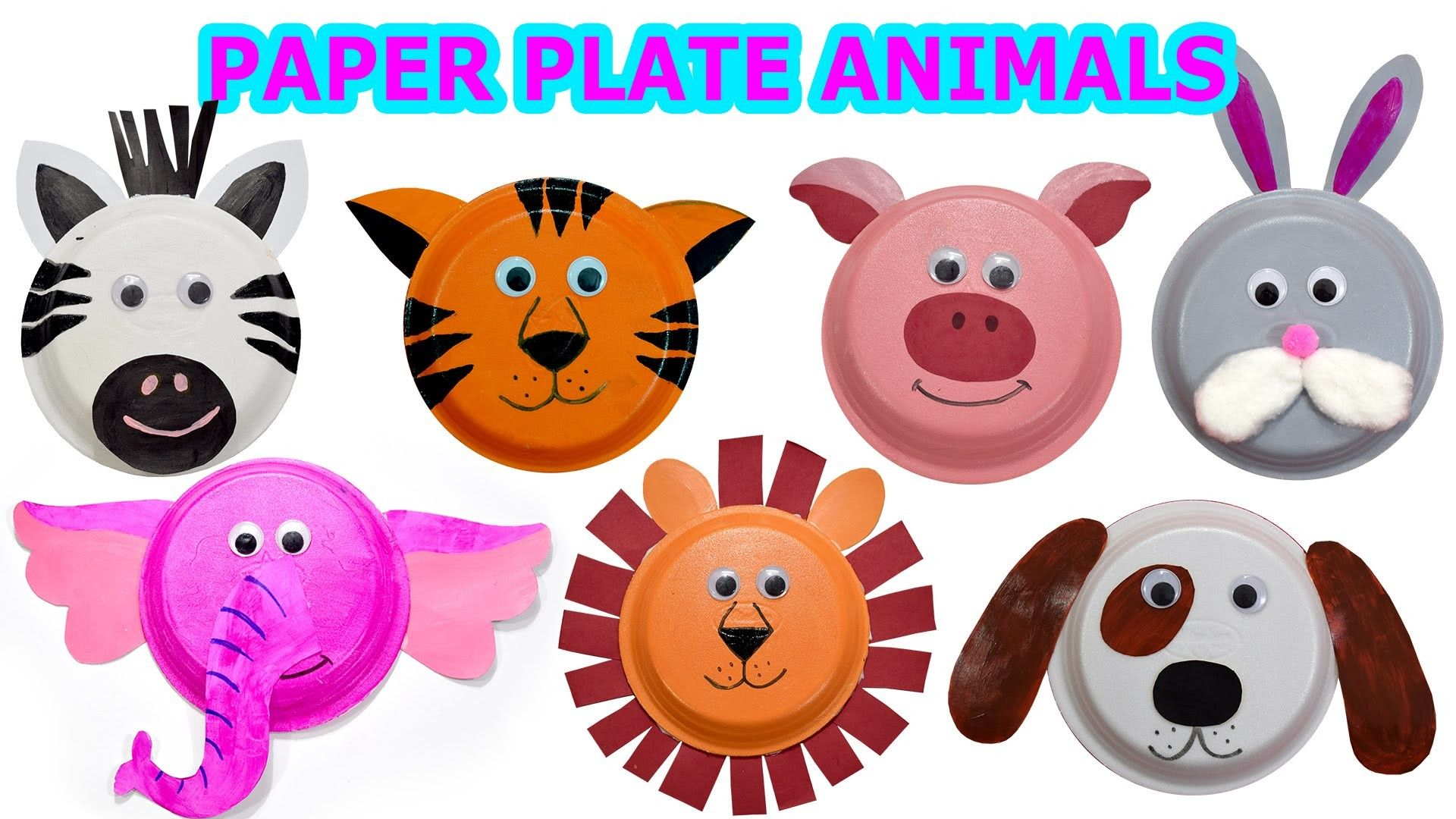How To Create Cute Animals Using Paper Plates