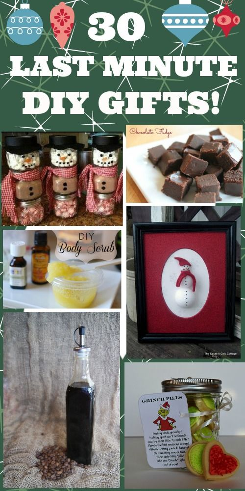 NEED IDEAS? HERE ARE 30 PRETTY COOL LAST MINUTE DIY GIFT IDEAS