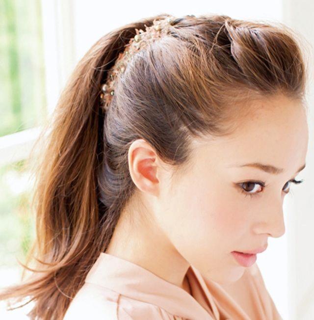 入学式 髪型 ママ ロング アレンジ ポニーテールアップ Jpg 640 652