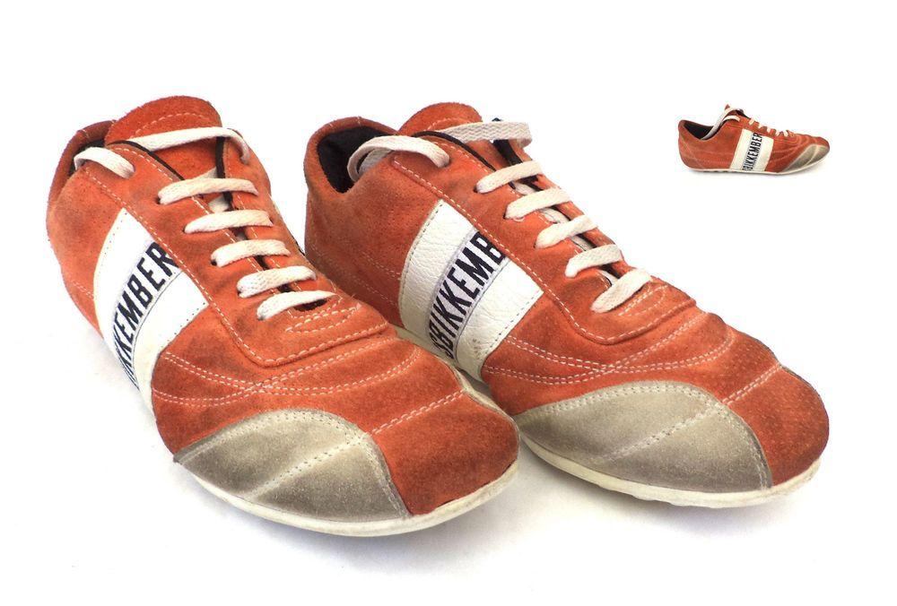 Dirk Bikkembergs designer Women's shoes, Sneakers Orange - White 106 SIZE 39  #Bikkembergs #sneakers #Casual