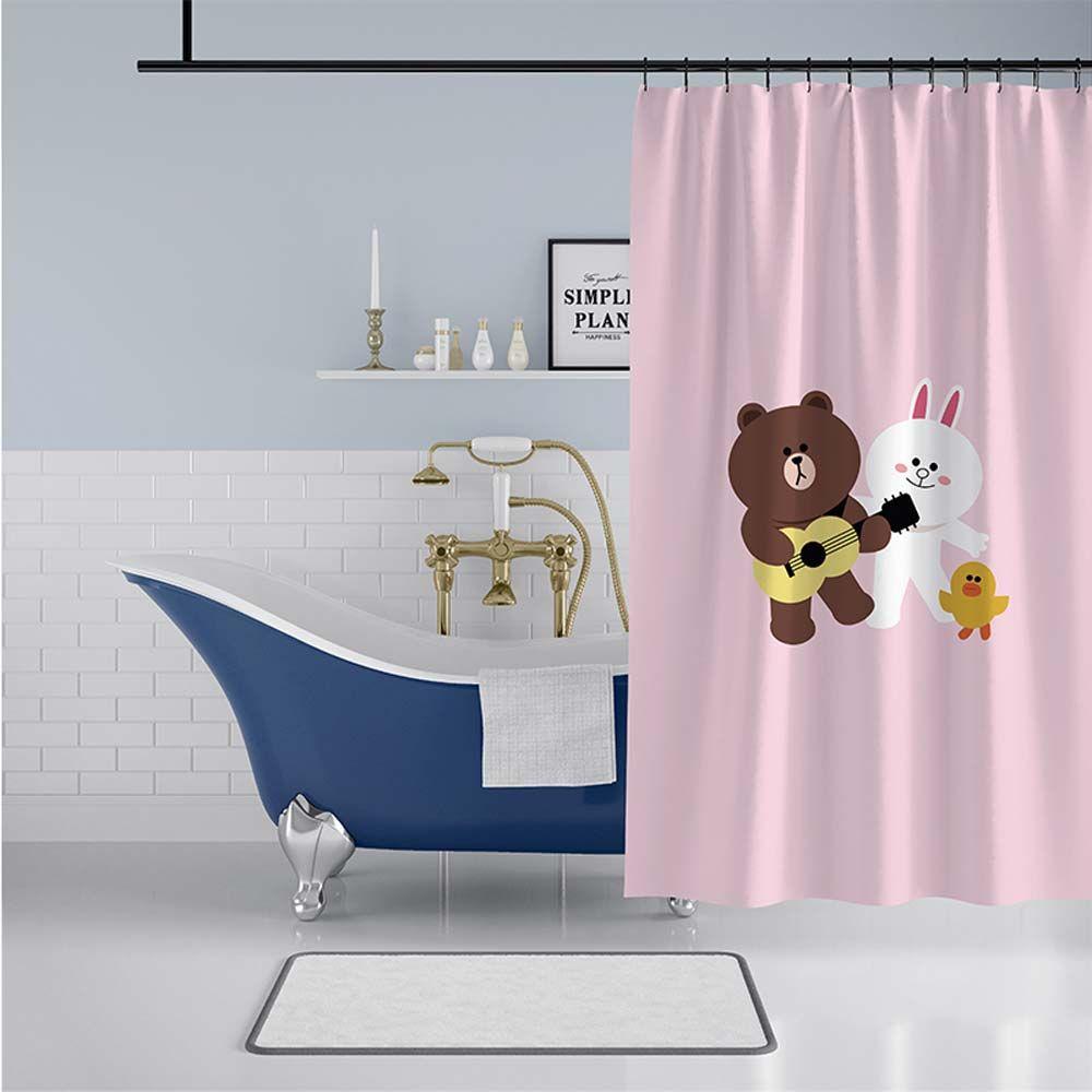 Rideau de douche impression cartoon mignon pour salle de - Anti moisissure salle de bain ...