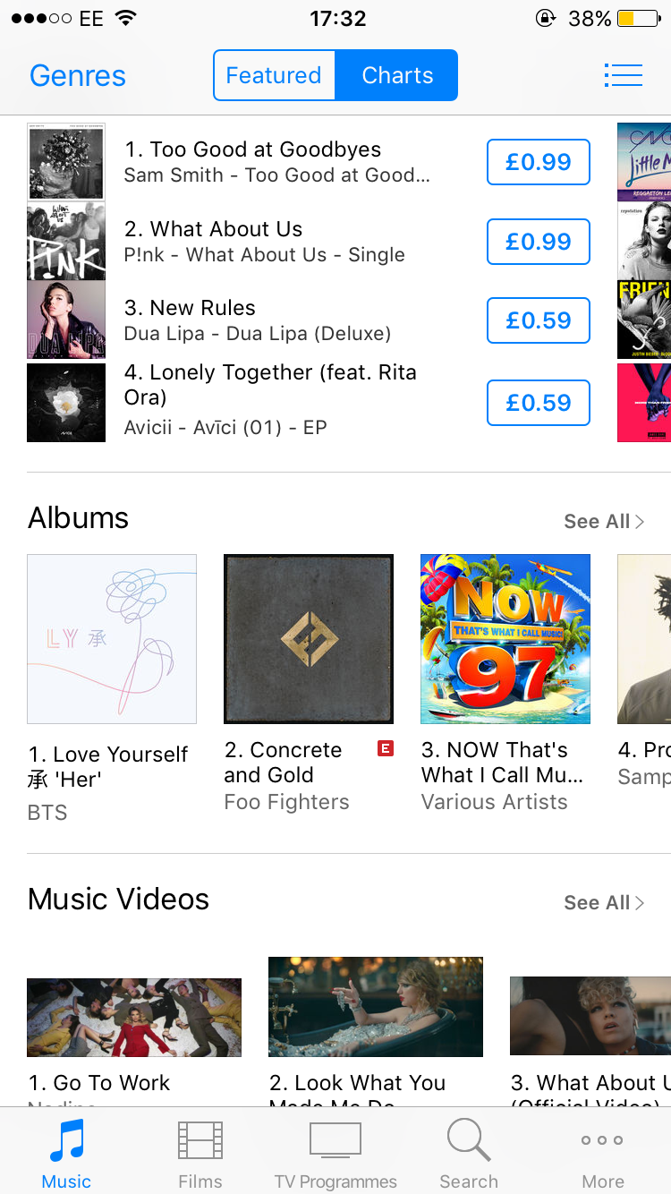 NO 1 ON THE UK ITUNES ALBUM CHART - BTS LOVE YOURSELF 'HER' | KPOP