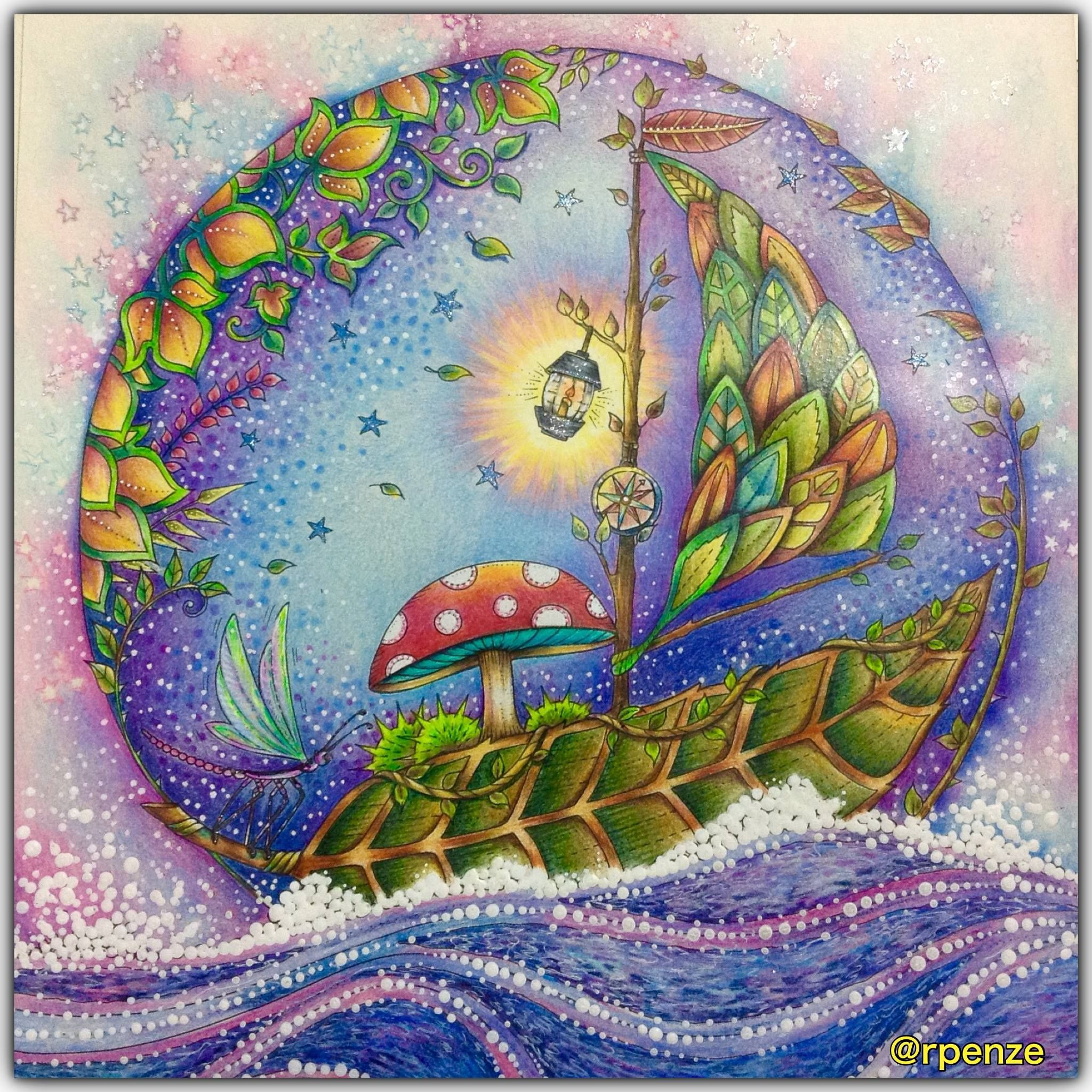 Zendoodle coloring enchanting gardens - Enchanted Forest Coloring Book Rosana Penze
