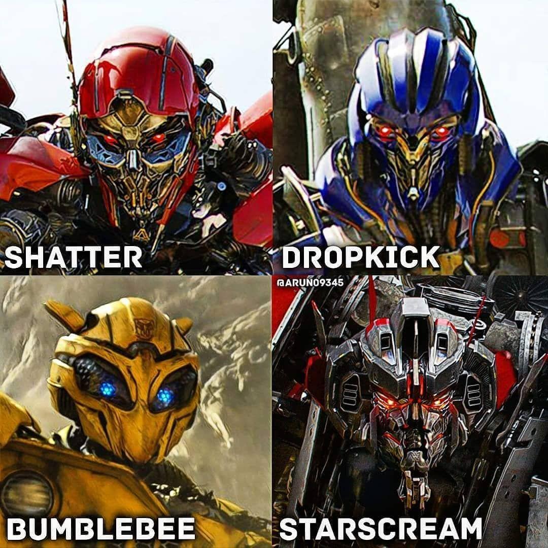 We got #Shatter #DropKick #bumblebee and #starscream in the