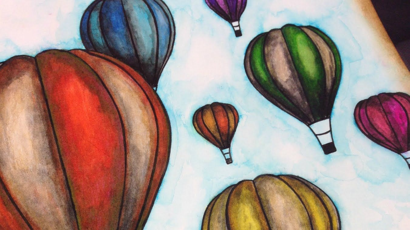 Hot Air Balloons Easy Illustration Technique For Beginners