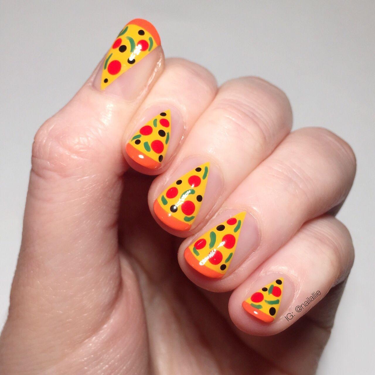 pizza nails | Nails | Pinterest | Pizzas, Hair makeup and Makeup