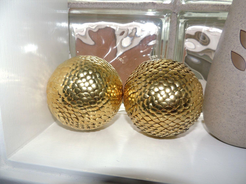 Gold decorative ball vase filler sphere by