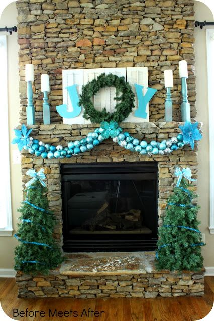 11 Creative Christmas Mantels You Need to Copy Mantels, Spin and