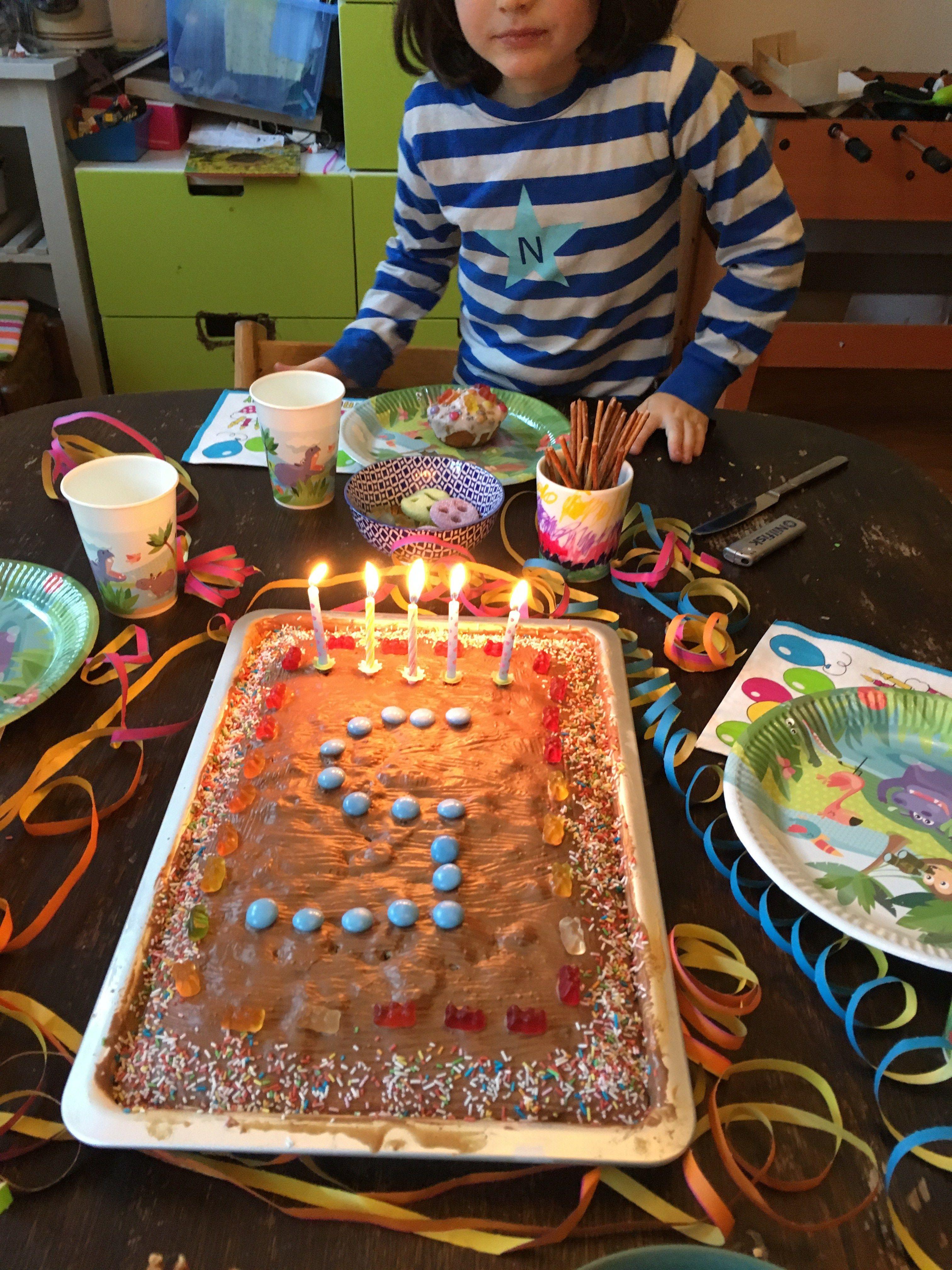 Geburtstagskuchen Mit Schokostuckchen Vom Blech Ein Schnelles