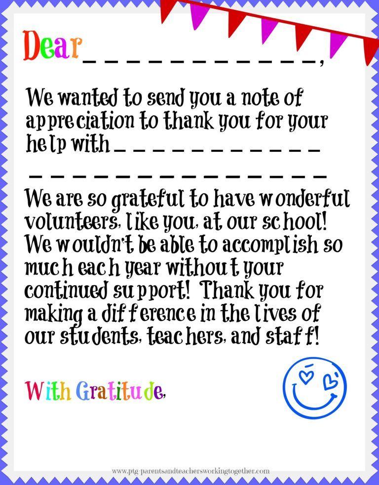 Volunteer Appreciation in your Parent Teacher Group, are