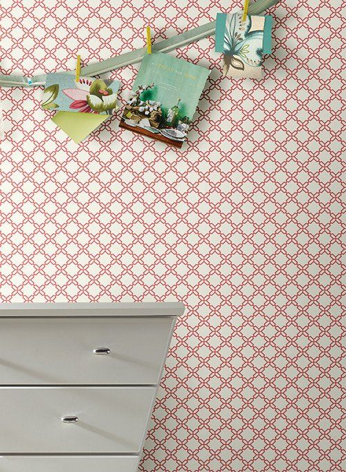 Geometric Trellis Wallpaper design by Carey Lind for York Wallcoverings