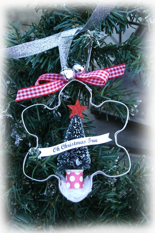Cookie Cutter Ornament Christmas Ornament Crafts