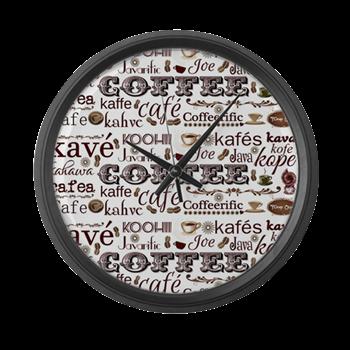 #CoffeeGifts #FlawnOcho #Home Decor Coffee Themed Wall Clock The Language  Of Coffee Large