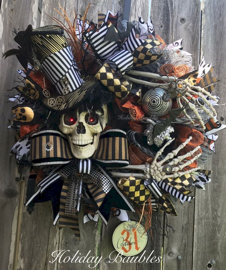 DIY Halloween Wreaths Ideas Cute Outdoor Halloween